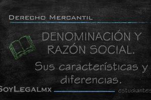 denominación y razón social
